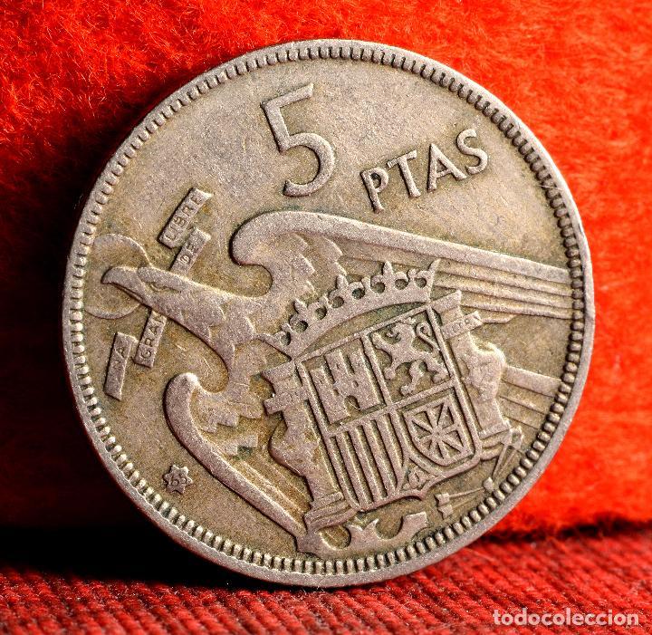 CINCO PESETAS 1957 *65: ERROR POR PESO NOTABLEMENTE SUPERIOR AL NORMAL (REF. 412) (Numismática - España Modernas y Contemporáneas - Variedades y Errores)