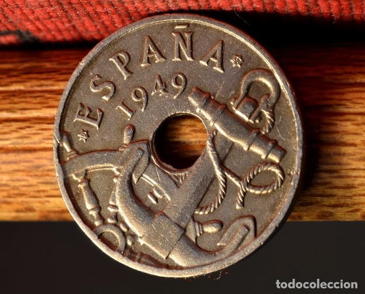 Monedas con errores: CINCUENTA CÉNTIMOS 1949 *53: VARIOS ERRORES (REF. 414) - Foto 2 - 96648735