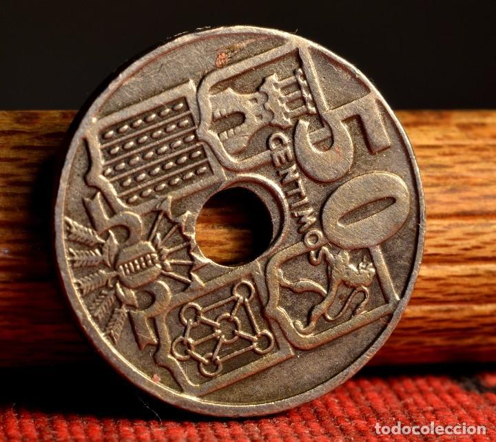 Monedas con errores: CINCUENTA CÉNTIMOS 1949 *53: VARIOS ERRORES (REF. 414) - Foto 3 - 96648735