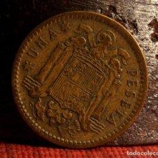 Monedas con errores: MONEDA DE UNA PESETA 1953 *56: ERROR POR PESO SUPERIOR (REF 419). Lote 98629595