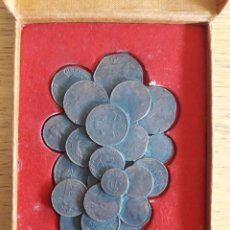 Monedas con errores: MONEDAS VARIAS COLAGE EN FORMA DE RACIMO CON CAJA 12 X 8 CMS, CAJA 12 X 16'5. Lote 99945315