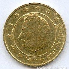Monedas con errores: * ERROR * 10 CENT BÉLGICA AÑO 2001 * CUÑO PARTIDO * DENOMINADO SILENO. Lote 102604984