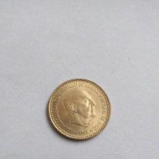 Monedas con errores: CURIOSA MONEDA DE LA PESETA ERROR SIN CIRCULAR 1966 FRANCO. Lote 106224608
