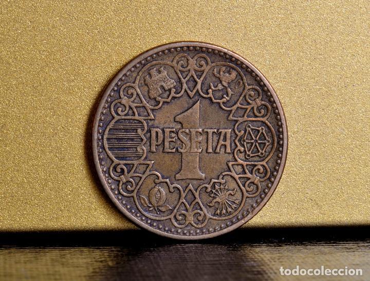 Monedas con errores: UNA PESETA 1944 : ERRORES EN LA CABEZA DEL ÁGUILA (REF. 426) - Foto 2 - 107408875