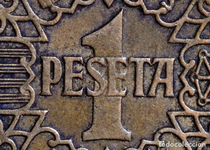 Monedas con errores: UNA PESETA 1944 : ERRORES EN LA CABEZA DEL ÁGUILA (REF. 426) - Foto 3 - 107408875
