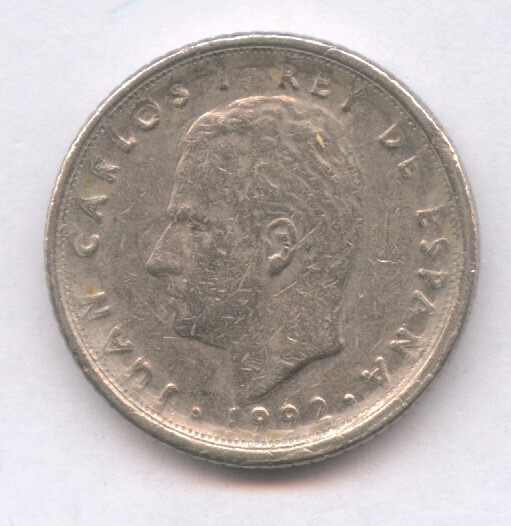 Monedas con errores: * ERROR * MONEDA CON DOS ERRORES LEYENDA PEGADA AL LISTEL Y EXCESO EN REVERSO - Foto 2 - 107662915