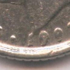 Monedas con errores: * ERROR * MONEDA CON EXCESO DE METAL EN LA FECHA. Lote 107663528
