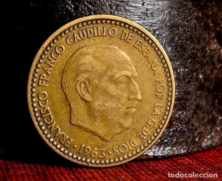 Monedas con errores: MISCELANIA DE ERRORES EN PESETA DE 1963 *64 (REF. 438) - Foto 5 - 107702943