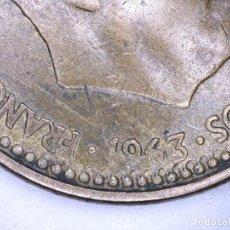 Monedas con errores: ESPAÑA MONEDA DE 1 PESETA FRANCO 1963*19*64 PESO 3,60 GRAMOS ERROR GRÁFILA.. Lote 109011671