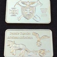 Monedas con errores: LINGOTE DEUSTSCHE REICH GOLD CHAPADO EN ORO . Lote 109413935