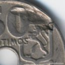Monedas con errores: ESPAÑA MONEDA DE 50 CÉNTIMOS FRANCISCO FRANCO 1949*19-- ERROR CUÑO- ANEPIGRAFA. Lote 109816311