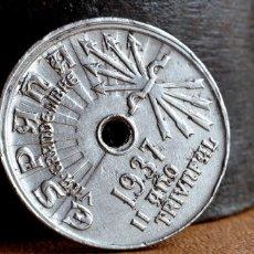 Monedas con errores: IMPRESIONANTES ERRORES EN MONEDA CIRCULADA DE 25 CÉNTIMOS 1937 (REF. 474). Lote 110011611