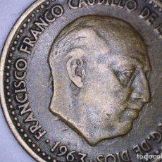 Monedas con errores: ESTADO ESPAÑOL- FRANCO - 1 PESETA 1963*19*65- 3,52 GRMS. INCUSA DETALLES DEL REVERSO EN ANVERSO. Lote 110217163