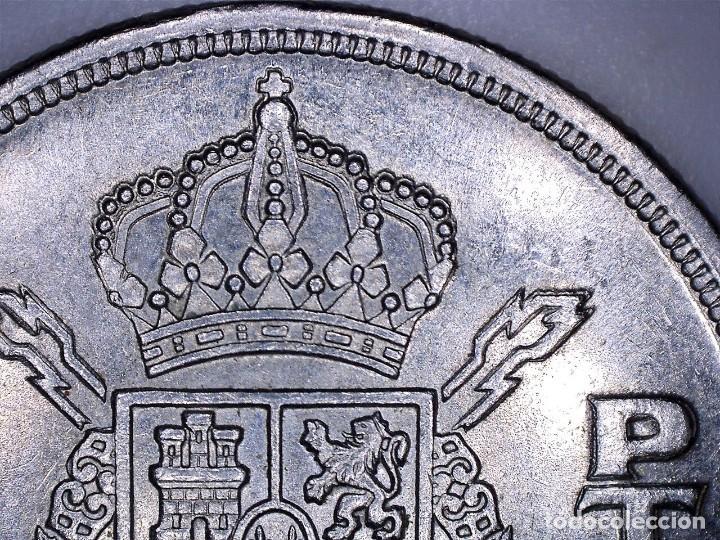 JUAN CARLOS I 5 PESETAS 1975*80 ORLA EN PUNTOS DE LA CORONA - REPICADA - 5,75 GRAMOS (Numismática - España Modernas y Contemporáneas - Variedades y Errores)