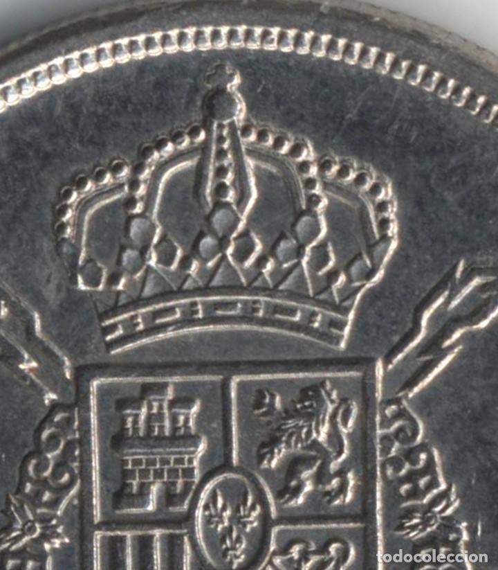 Monedas con errores: JUAN CARLOS I 5 PESETAS 1975*80 ORLA EN PUNTOS DE LA CORONA - REPICADA - 5,75 GRAMOS - Foto 2 - 110560447