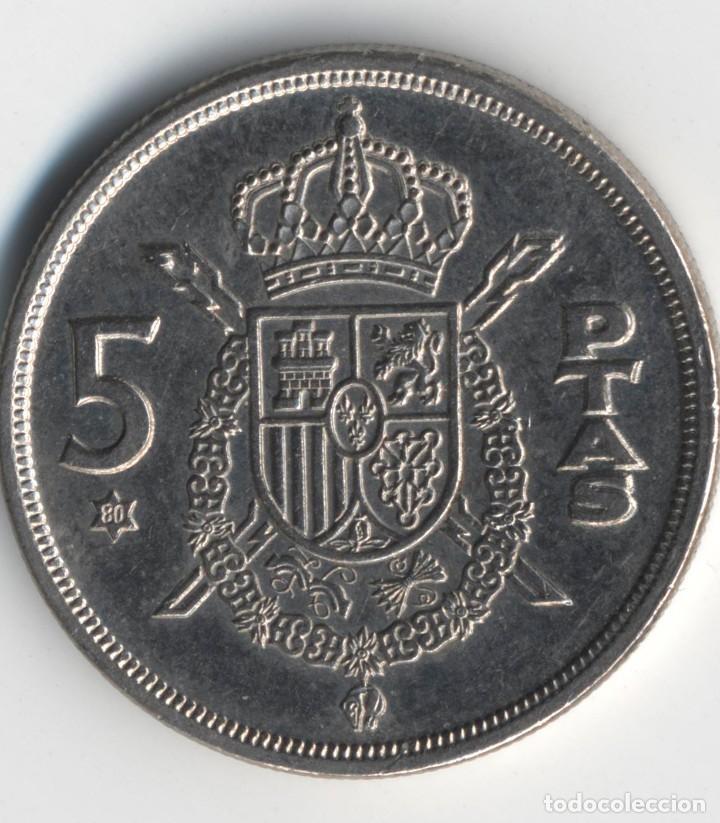 Monedas con errores: JUAN CARLOS I 5 PESETAS 1975*80 ORLA EN PUNTOS DE LA CORONA - REPICADA - 5,75 GRAMOS - Foto 3 - 110560447