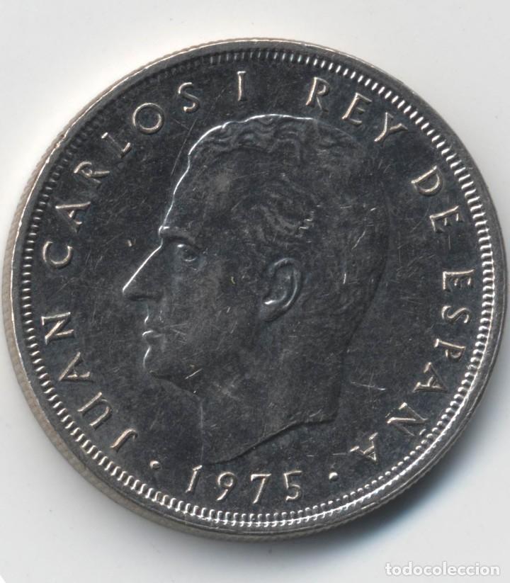 Monedas con errores: JUAN CARLOS I 5 PESETAS 1975*80 ORLA EN PUNTOS DE LA CORONA - REPICADA - 5,75 GRAMOS - Foto 4 - 110560447