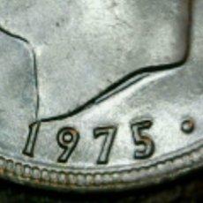 Monedas con errores: * ERROR *. SIN CIRCULAR 5 P 1975-78 EXCESOS DE METAL EN CUELLO Y OJO. Lote 110682070