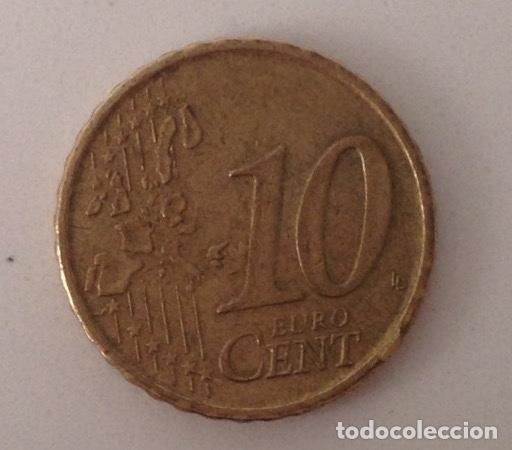 Monedas con errores: Error moneda 10 centimos euro 1999. Variante exceso metal - Foto 2 - 110683439