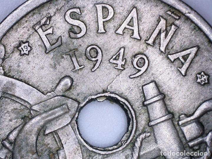ESPAÑA ESTADO ESPAÑOL-FRANCO 50 CÉNTIMOS 1949*52. MÚLTIPLES ERRORES. (Numismática - España Modernas y Contemporáneas - Variedades y Errores)