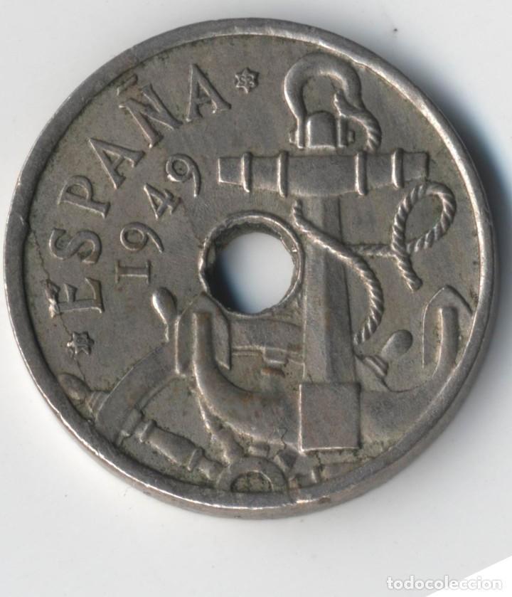 Monedas con errores: ESPAÑA ESTADO ESPAÑOL-FRANCO 50 CÉNTIMOS 1949*52. MÚLTIPLES ERRORES. - Foto 4 - 110910255