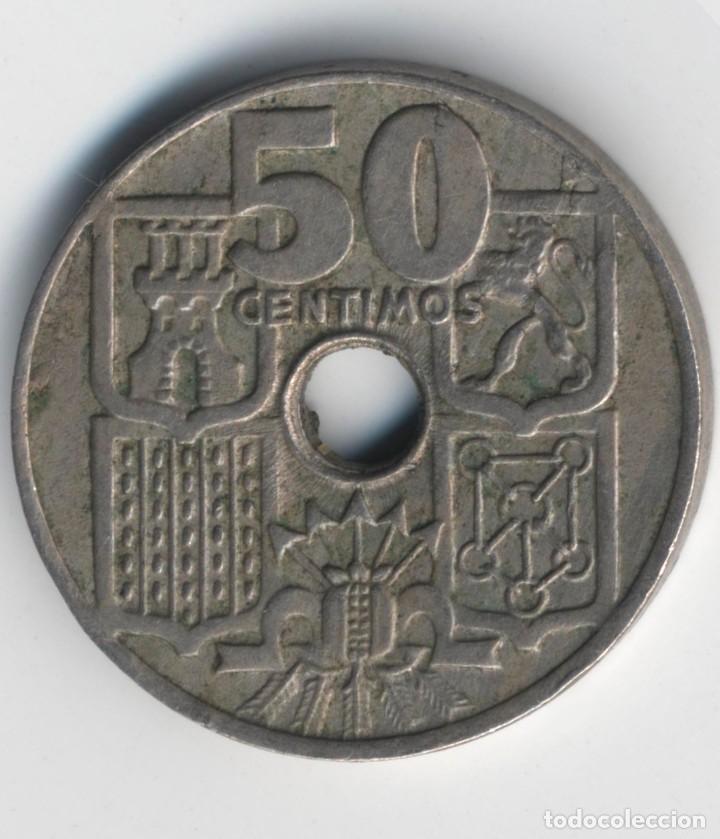 Monedas con errores: ESPAÑA ESTADO ESPAÑOL-FRANCO 50 CÉNTIMOS 1949*52. MÚLTIPLES ERRORES. - Foto 6 - 110910255