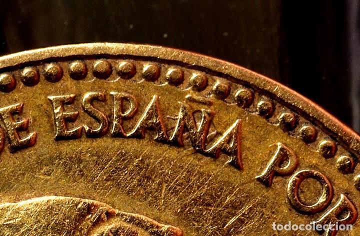 Monedas con errores: UNA PESETA 1963 *65: LETRAS MAYÚSCULAS AL REVÉS EN EL REVERSO Y PROBLEMAS EN EL ANVERSO (REF. 506) - Foto 2 - 111431235