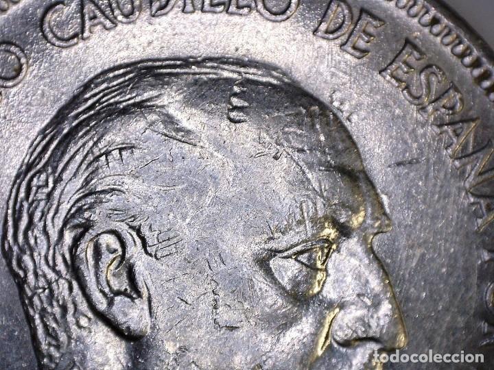 Monedas con errores: ERROR- FRANCO 5 PESETAS 1949*49 SC PROFUSIÓN DE MARCAS INCUSAS EN ANVESO MÁS LEVES EN - Foto 2 - 111787187