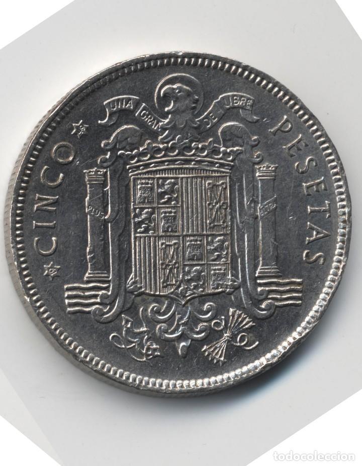 Monedas con errores: ERROR- FRANCO 5 PESETAS 1949*49 SC PROFUSIÓN DE MARCAS INCUSAS EN ANVESO MÁS LEVES EN - Foto 5 - 111787187