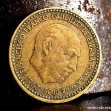 Monedas con errores: UNA PESETA 1963 *64: ERROR POR PESO DESORBITADO + REPINTES (REF. 523). Lote 112171171