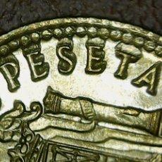 Monedas con errores: * ERROR * 1 PTA 1975-80 . EXCESO DE METAL EN PESETAS. Lote 113400758
