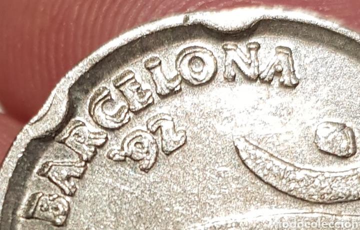 MONEDA 50 PESETAS BARCELONA 92 REMARCADA (Numismática - España Modernas y Contemporáneas - Variedades y Errores)
