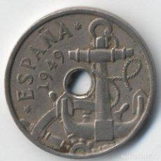 Monedas con errores: FRANCO 50 CÉNTIMOS 1949 *19*51 TALADRO IRREGULAR EN ANVERSO Y REVERSO. Lote 114422303