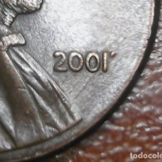 Monedas con errores: * ERROR * ONE CENT USA 2001 ERROR EN LA FECHA. Lote 114529260