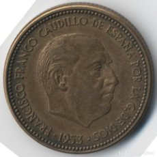 Monedas con errores: BONITA MONEDA DE 2,5 PESETAS 1953*56 FRANCO CON VARIOS ERRORES, METAL, INCUSA, COSPEL...7,10 GRAMOS. Lote 115165019