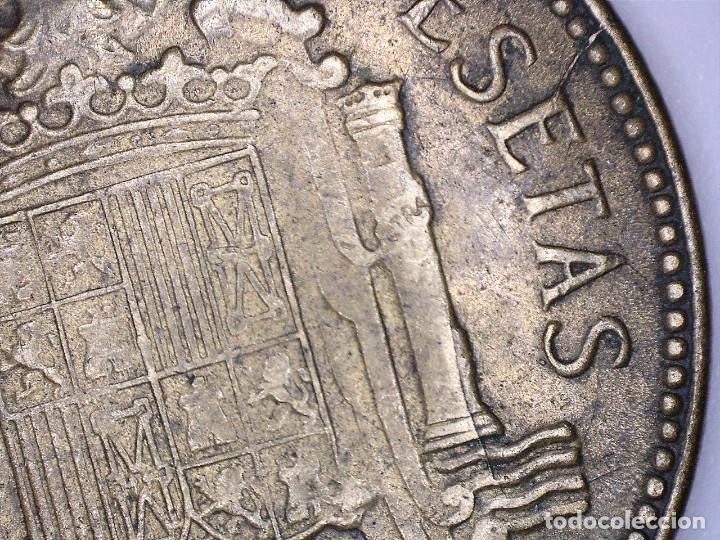Monedas con errores: BONITA MONEDA DE 2,5 PESETAS 1953*56 FRANCO CON VARIOS ERRORES, METAL, INCUSA, COSPEL...7,10 GRAMOS - Foto 7 - 115165019