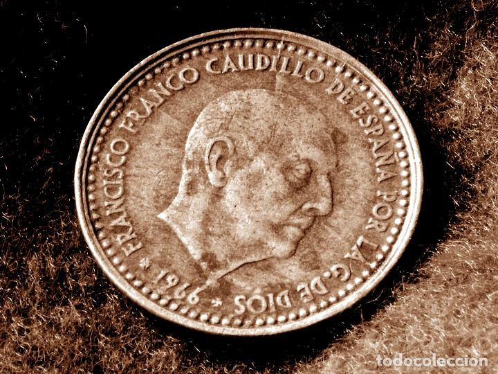 Monedas con errores: GRAN ACUMULACIÓN DE ERRORES EN PESETA DE 1966 *67 (REF. 573) - Foto 2 - 115286347