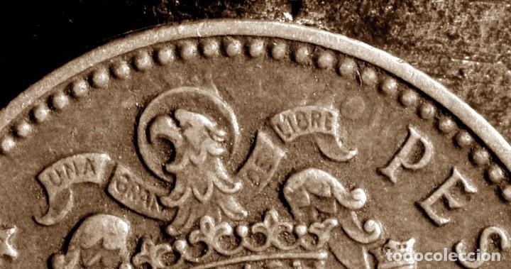 Monedas con errores: GRAN ACUMULACIÓN DE ERRORES EN PESETA DE 1966 *67 (REF. 573) - Foto 7 - 115286347