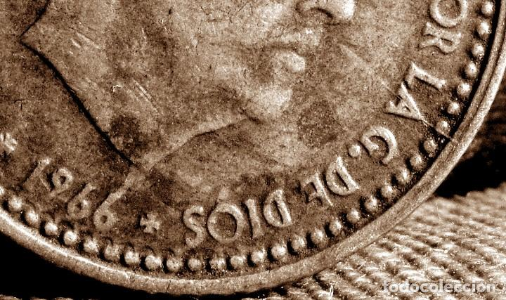 Monedas con errores: GRAN ACUMULACIÓN DE ERRORES EN PESETA DE 1966 *67 (REF. 573) - Foto 11 - 115286347