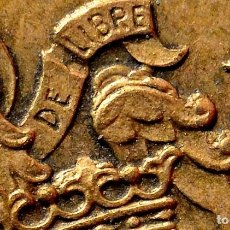 Monedas con errores: LLAMATIVOS EXCESOS DE MATERIAL (AL MENOS 14) EN EL REVERSO DE UNA PESETA 1966 *75 (REF. 602). Lote 117688667