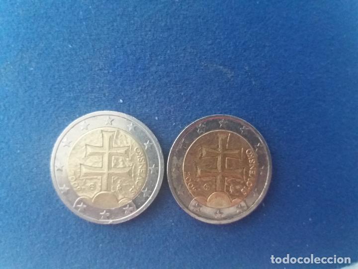 Monedas con errores: BONITA MONEDA 2 EUROS ESLOVAQUIA 2009 CRUZ DOBLE TRAVESAÑO ERROR IMPRESION COLOR. IMPORTANTE LEER - Foto 2 - 118536567