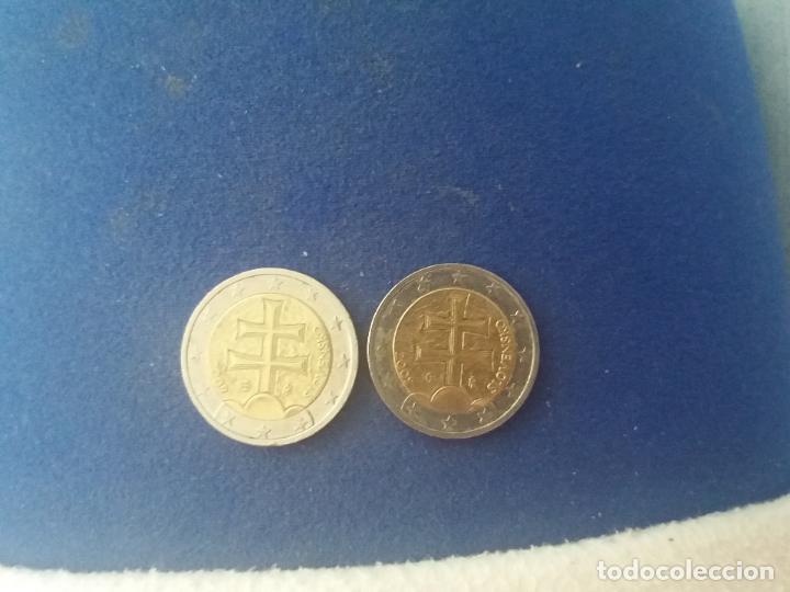 Monedas con errores: BONITA MONEDA 2 EUROS ESLOVAQUIA 2009 CRUZ DOBLE TRAVESAÑO ERROR IMPRESION COLOR. IMPORTANTE LEER - Foto 4 - 118536567