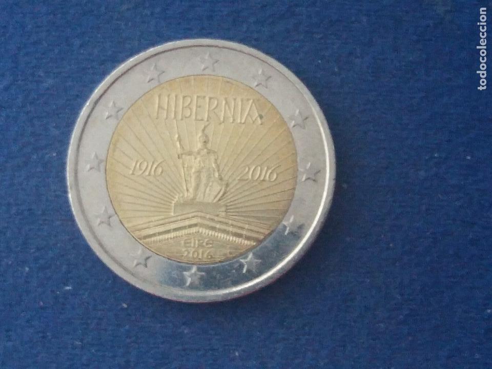 Bonita Moneda 2 Euros Eire 2016 Hibernia Error Comprar Monedas Con