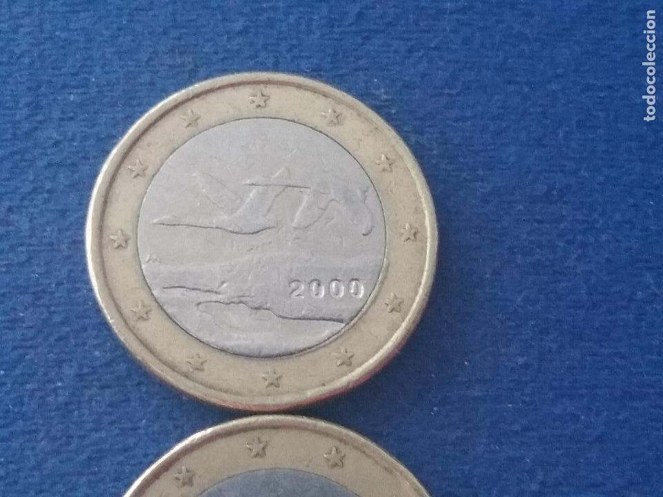 Monedas con errores: MONEDA 1 EURO FINLANDIA 2000 GANSOS SALVAJES ERROR ACUÑACIÓN EXCESO METAL. IMPORTANTE LEER - Foto 2 - 118538167