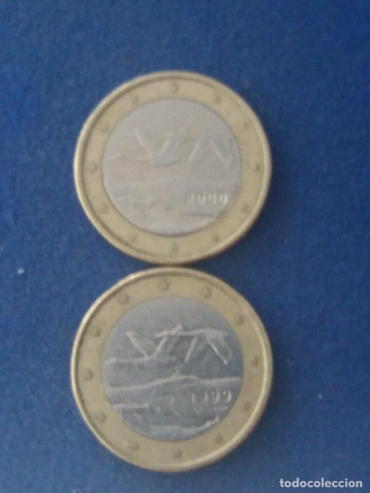 Monedas con errores: MONEDA 1 EURO FINLANDIA 2000 GANSOS SALVAJES ERROR ACUÑACIÓN EXCESO METAL. IMPORTANTE LEER - Foto 3 - 118538167