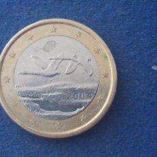 Monedas con errores: BONITA MONEDA 1 EURO FINLANDIA 2004 GANSOS SALVAJES ERROR EXCESO METAL. IMPORTANTE LEER. Lote 118538483