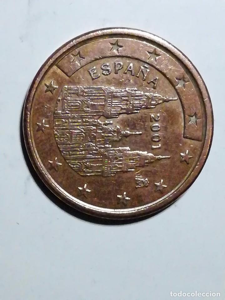 Monedas con errores: COSPEL MÁS GRANDE 5 CÉNTIMOS DE EURO DE 2001 - Foto 3 - 120078219