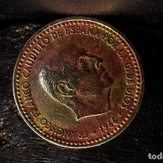 Monedas con errores: UNA PESETA 1966 *68: COSPEL CON EXCESO DE COBRE, LAMINACIÓN, REPINTES, ETC. (REF. 613). Lote 120091231