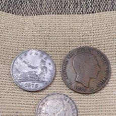 Monedas con errores: 40- TRES BONITAS MONEDAS FALSAS DE ÉPOCA. Lote 121988908