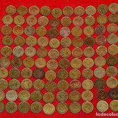 Monedas con errores: GRAN LOTE DE 100 MONEDAS DE UNA PESETA DE FRANCO TODAS CON ERRORES (LOTE 1). Lote 123012759